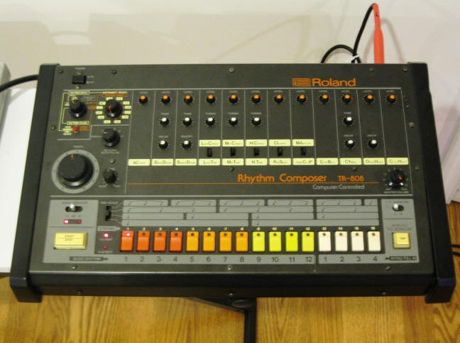 Roland 808 Drum Machine - Source: www.synthmania.com
