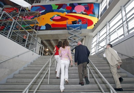 Cowboys Stadium Art- Source: Photo by Sharon Ellman - AP