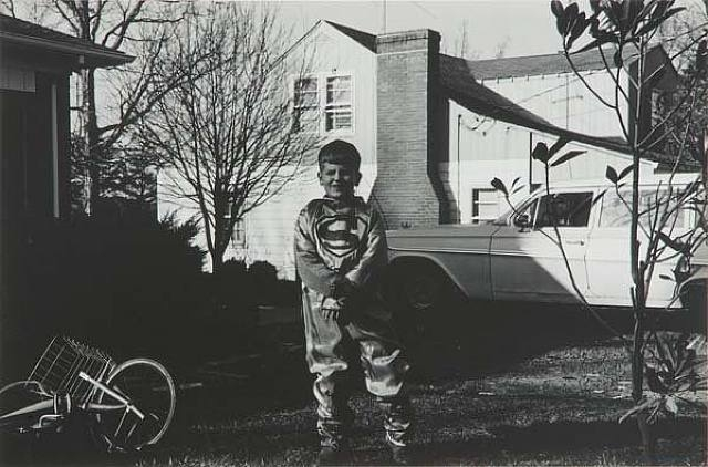Lee Friedlander -Untitled (George Depaloi, Vienna, VA in Superman Costume), 1966