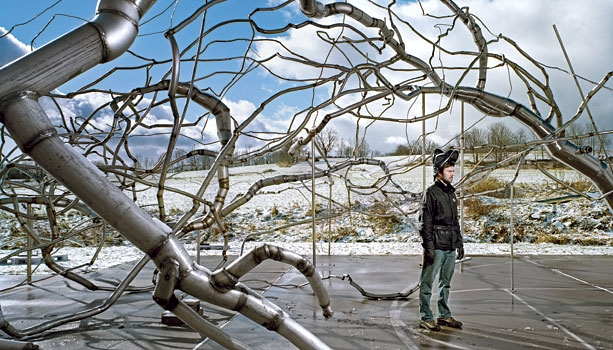 Roxy Paine Working on